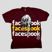 Face Spook - Wine T-Shirt